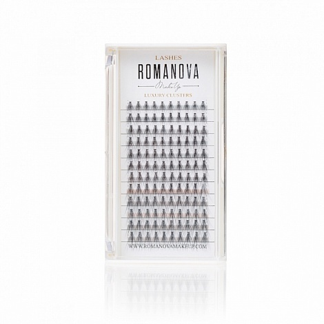 Ресницы пучки Romanovamakeup F MIX 120шт