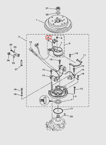 Катушка импульсная для лодочного мотора T40 Sea-PRO (8-6)
