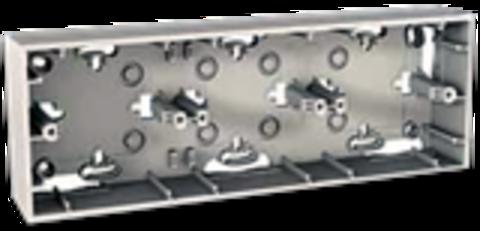 Коробка тройная для открытой установки. Цвет Бежевый. Schneider electric Unica. MGU8.006.25