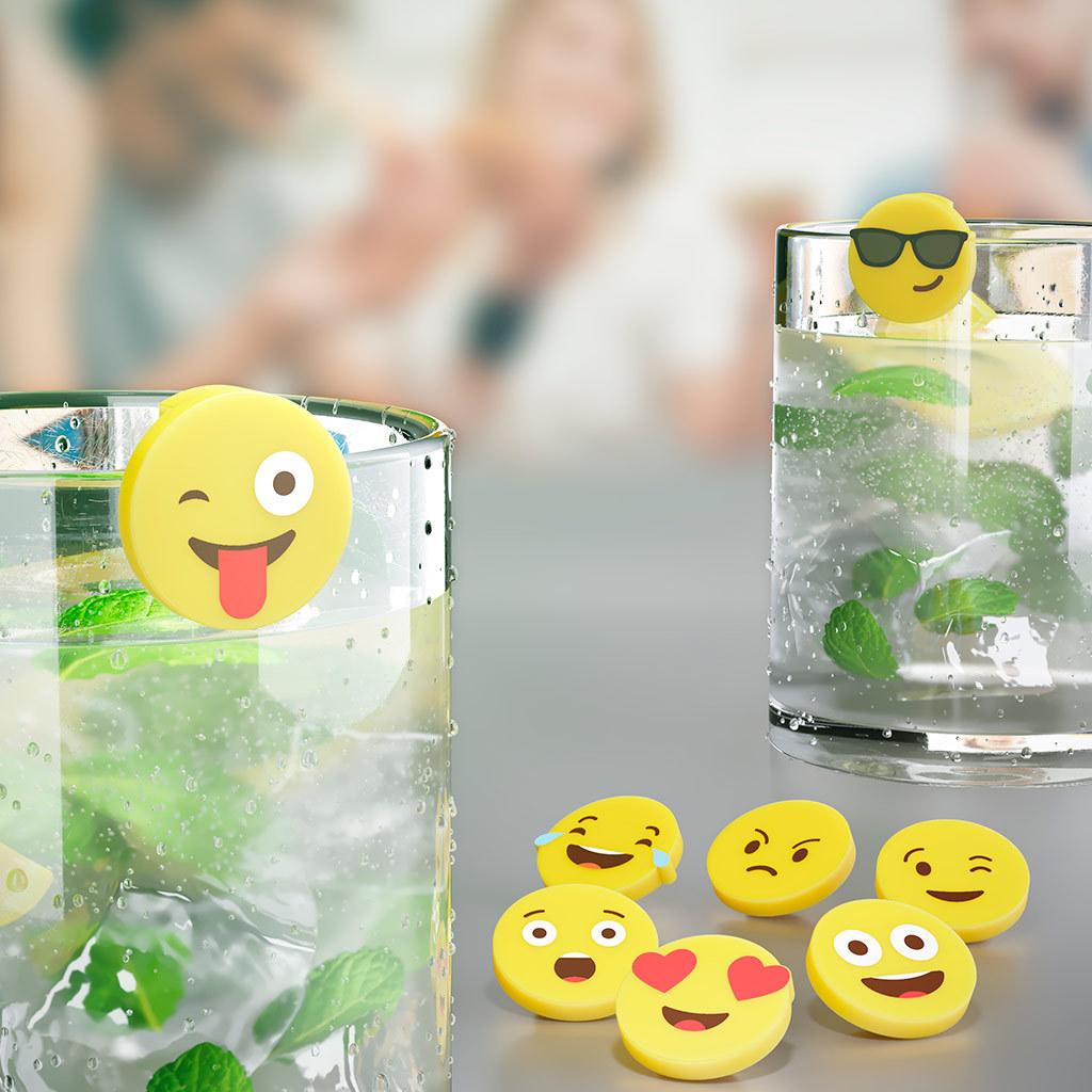Маркеры для бокалов Emoji 8шт.
