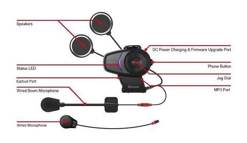 Bluetooth мотогарнитура SENA 10S