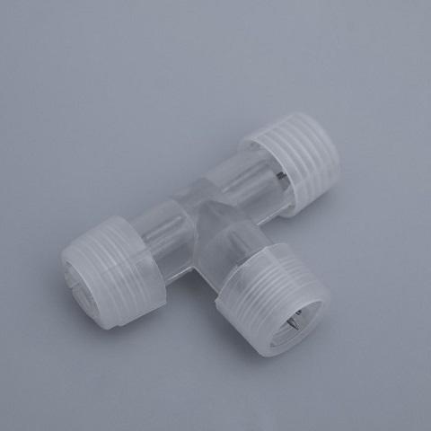 Коннектор соединительный для 2-х проводного дюралайта Ø 13 мм  Т - образный.