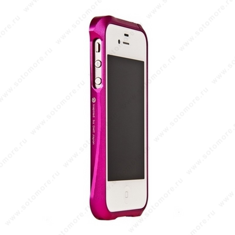 Бампер Deff CLEAVE алюминиевый для iPhone 4s/ 4 розовый
