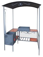 Мангал дачный ММ-20 с печью под казан
