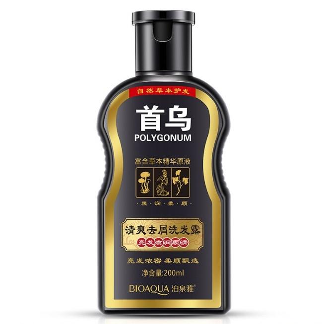 Восстанавливающий шампунь для волос с корнем горца многоцветкового POLIGONUM, 200мл.