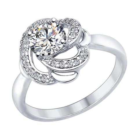 89010049- Кольцо из серебра с кристаллом SWAROVSKI от  SOKOLOV