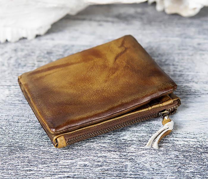 WL304-2 Винтажный кошелек из натуральной кожи фото 02