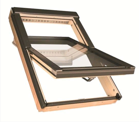 Мансардное окно Факро FTP-V L3/P2 Триплекс 94х140