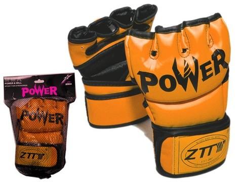 Перчатки для ММА. Цвет: оранжевй.  Размер L.