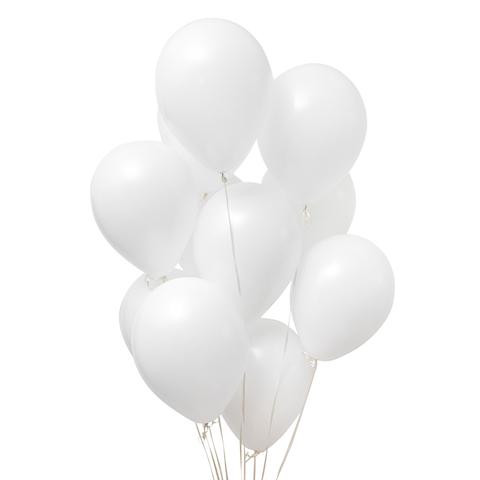 Воздушные шары с гелием белые