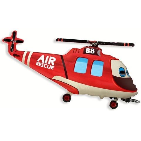 Воздушный шар фигура Вертолет Спасатель, 97 см