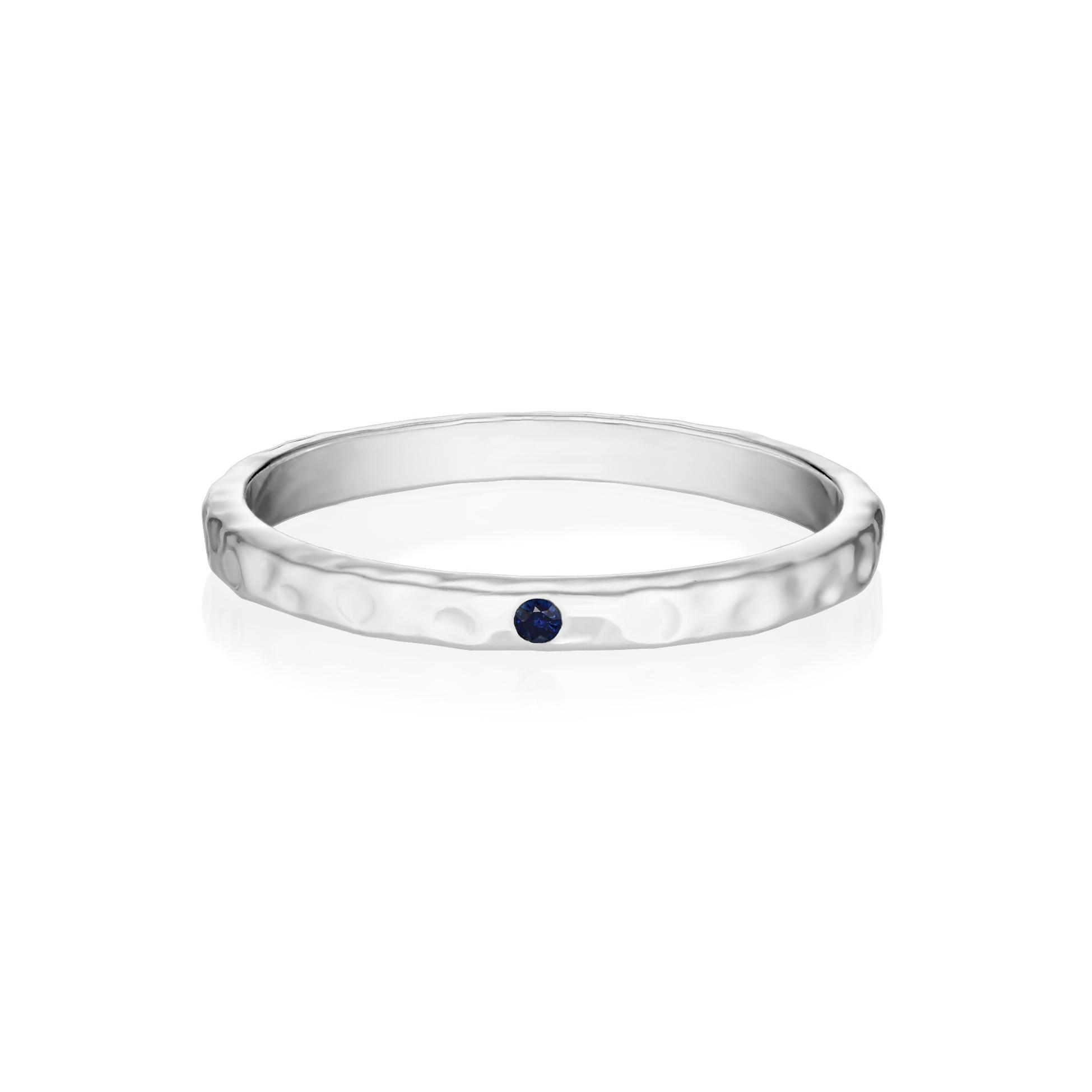 Кольцо GAMMA белое золото - Синий сапфир