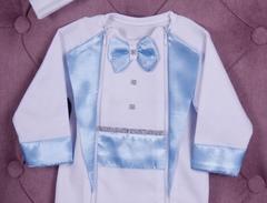 Комплект на выписку для мальчика Вилли голубой