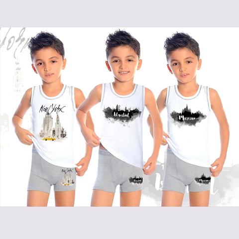 Комплект хлопок мальчику (2-10) 200910-В7607