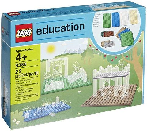 LEGO Education: Малые строительные платы 9388 — Small building plates — Лего Образование