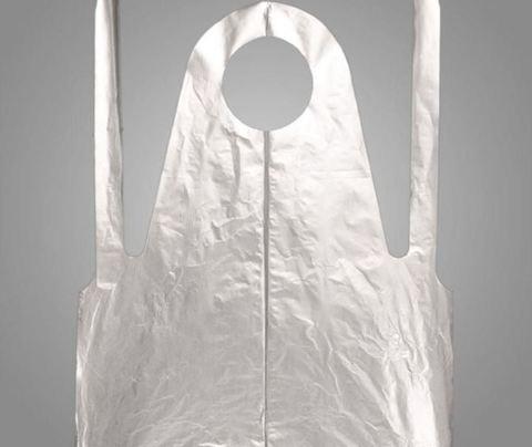Фартук полиэтиленовый серебристый 120х70 см 50 шт/упк