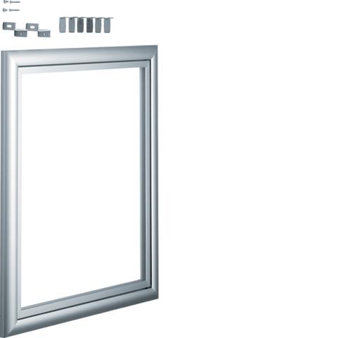 Дверца со сменной вставкой (иллюстративная, зеркальная) для встраиваемого Volta,2-рядного, серебристая