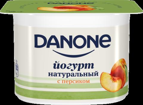 """Йогурт """"Danone"""" персик 110г"""