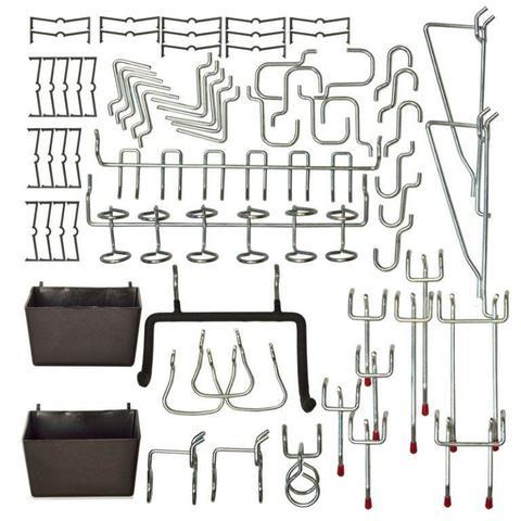 Набор крючков для инструментов (43 шт) на перфопанель из ХДФ