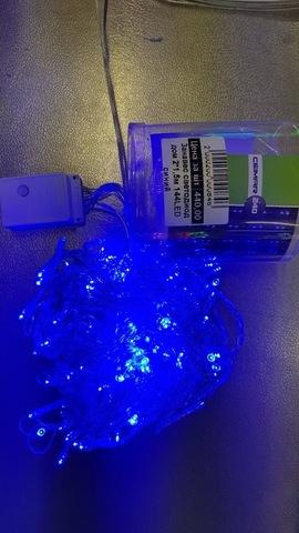 Занавес светодиодный домашний 2*1,5м 144LED синий