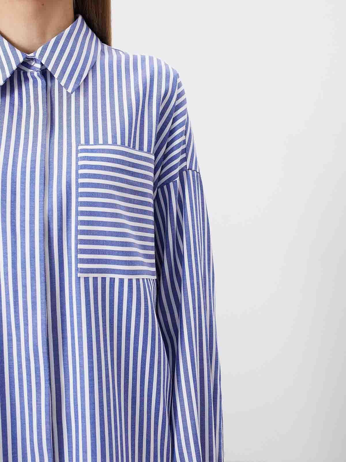 Рубашка Ray, Бело-голубой