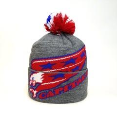 Вязаная шапка хоккей НХЛ Вашингтон Кэпиталз (Hockey NHL Washington Capitals) с помпоном