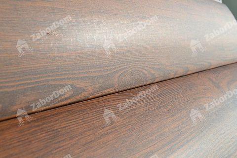 Металлический сайдинг под бревно Металл Профиль блок-хаус Ecosteel Мореный дуб матовый 0,5 мм