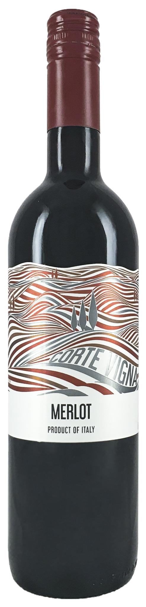 Вино Корте Винья Мерло красное сух. столовое 0,75л