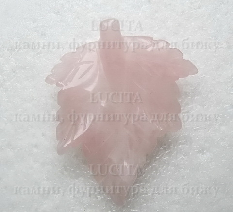 "Подвеска Кварц  ""Листик"" (59-60х49-50х7-8 мм) ()"
