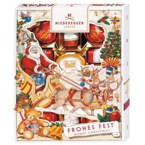 Новогодний набор конфет с марципаном Марципанерия Niederegger