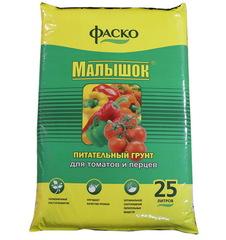 Грунт для томатов и перцев Малышок 25л Фаско