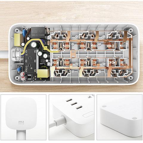 Удлинитель Xiaomi Mi Power Strip (6 розеток, 3 USB)