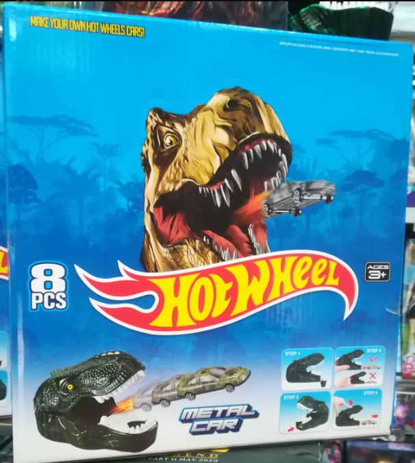 Запуск машинок из динозавра