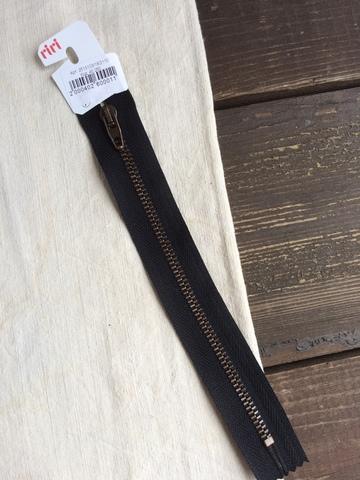 Молния джинсовая №4, Riri, 18см, черный
