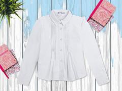 OP292Р-1 рубашка для девочек, белая