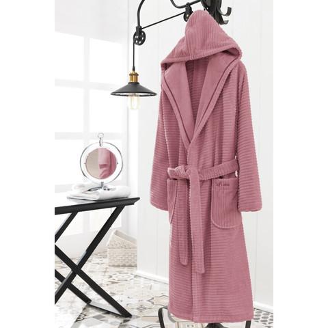 STRIPE фуксия махровый женский халат Soft Cotton (Турция)