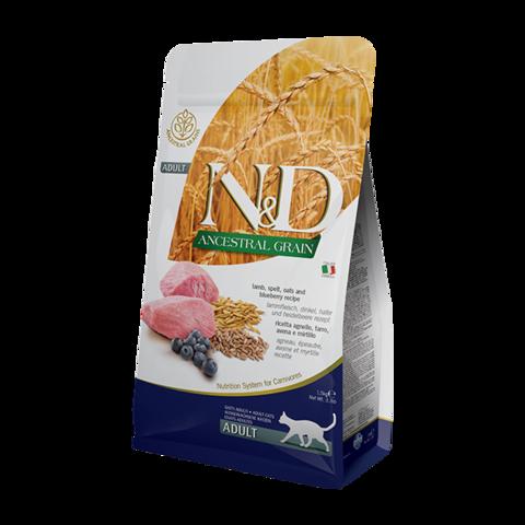 Farmina Ancestral Grain Lamb & Blueberry Adult Сухой корм для кошек с Ягненком и черникой Низкозерновой