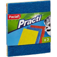 Губки абразивные Paclan 150x125x20 мм 3 штуки в упаковке