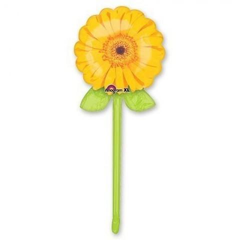 Фольгированный шар Георгин желтый