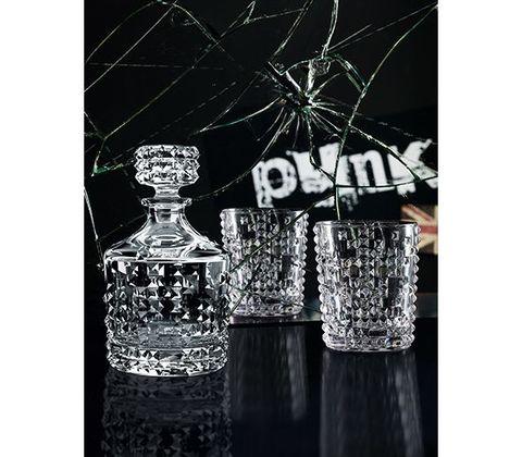 Набор из декантера и 2 стаканов, 750 мл, «Punk», хрусталь