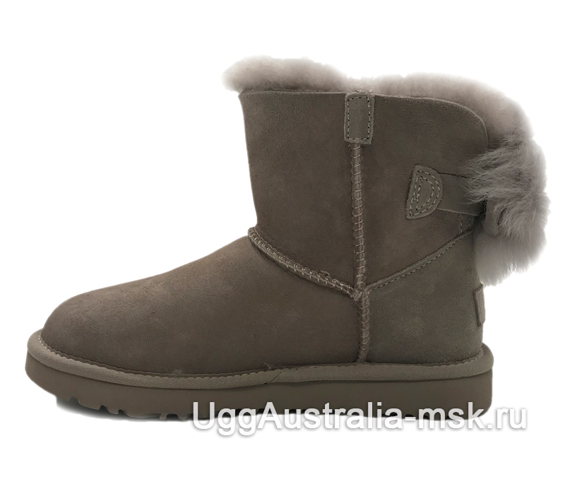 UGG Bow Mini Fluff Boot Smoky