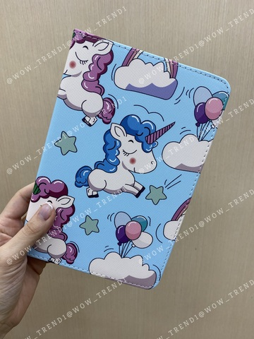 Чехол Slim Case iPad mini 1/2/3/4/5 /Unicorns Blue/