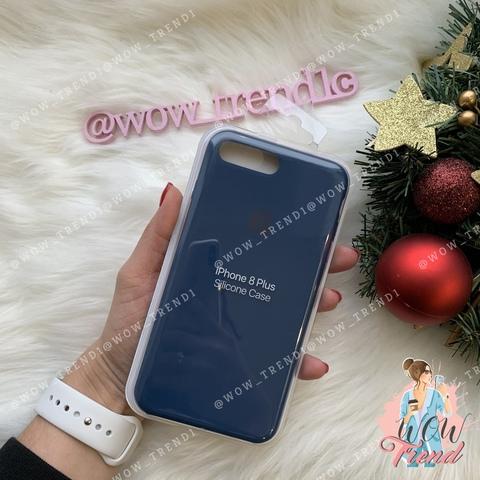 Чехол iPhone 7+/8+ Silicone Case /blue cobalt/ кобальт original quality