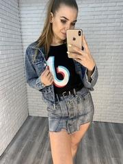 джинсовая юбка-шорты короткая интернет магазин