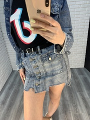 джинсовая юбка-шорты короткая nadya