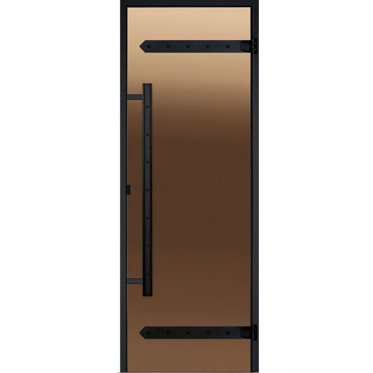 Дверь Harvia Legend STG 7×19 коробка сосна, стекло бронза, фото 1