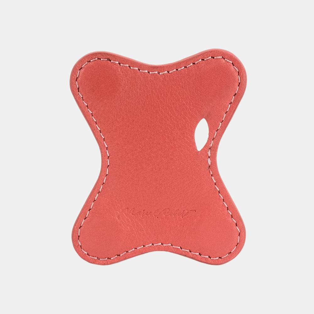 Чехол-держатель для наушников Papillon Easy из натуральной кожи теленка, кораллового цвета