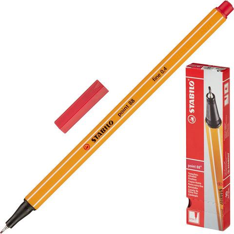 Линер Stabilo Point 88/50 красный (толщина линии 0.4 мм)