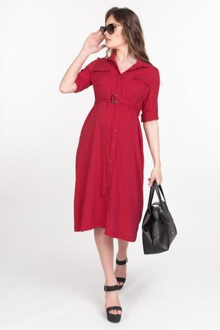 Платье для беременных 11557 малиновый