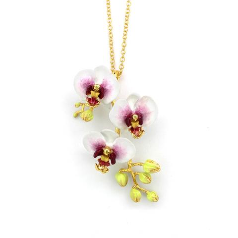 Колье Орхидея (белая)